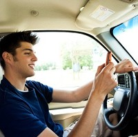 Many young drivers are distracted Image